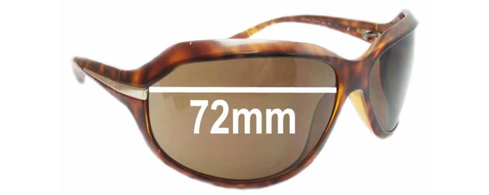Sunglass Fix Sunglass Replacement Lenses for Prada SPR14G - 72mm Wide