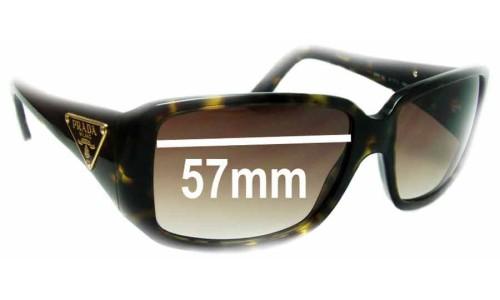 Sunglass Fix Sunglass Replacement Lenses for Prada SPR16L - 57mm Wide