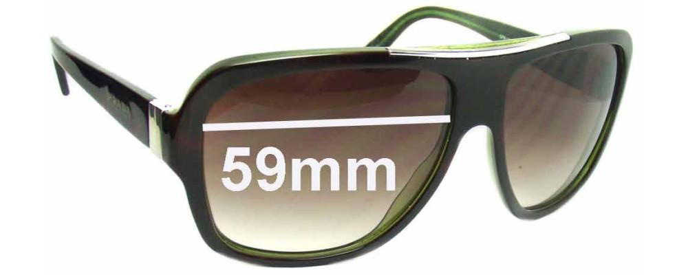 Sunglass Fix Sunglass Replacement Lenses for Prada SPR17L - 59mm Wide