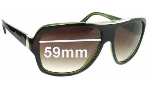 Sunglass Fix Sunglass Replacement Lenses for Prada SPR17L - 59mm wide lens