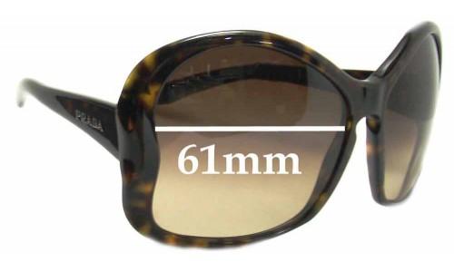 Sunglass Fix Sunglass Replacement Lenses for Prada SPR18I - 61mm Wide