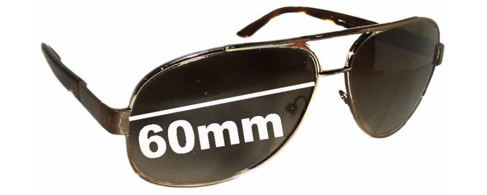 Sunglass Fix Sunglass Replacement Lenses for Prada SPR50L - 60mm Wide