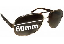 Sunglass Fix Sunglass Replacement Lenses for Prada SPR50L - 60mm Wide