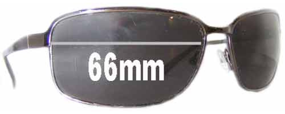 Sunglass Fix Sunglass Replacement Lenses for Prada SPR52E - 66mm Wide
