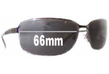 Sunglass Fix Sunglass Replacement Lenses for Prada SPR52E - 66mm Wide