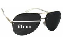 Sunglass Fix Sunglass Replacement Lenses for Prada SPR53O - 61mm Wide