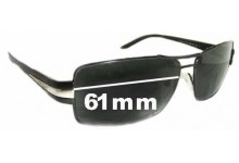 Sunglass Fix Sunglass Replacement Lenses for Prada SPR65H - 61mm Wide
