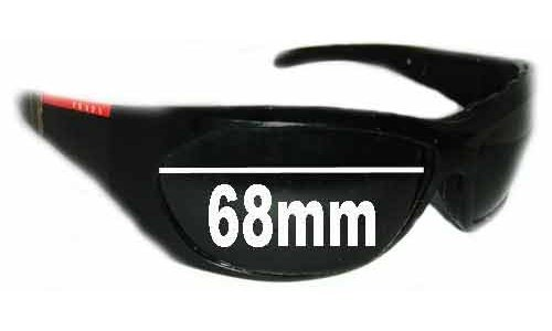 Sunglass Fix Sunglass Replacement Lenses for Prada SPS04H - 68mm wide