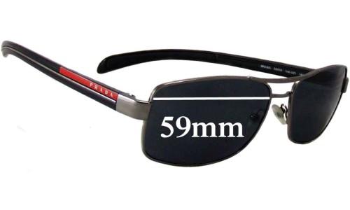Sunglass Fix Sunglass Replacement Lenses for Prada SPS50L - 59mm Wide
