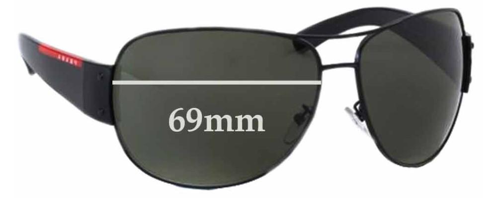 Sunglass Fix Sunglass Replacement Lenses for Prada SPS54E - 69mm Wide