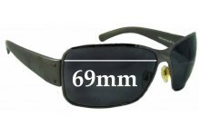 Sunglass Fix Sunglass Replacement Lenses for Prada SPS56G - 69mm Wide *MUST BE SENT TO OUR FACILITIES FOR CUSTOM FITTING*