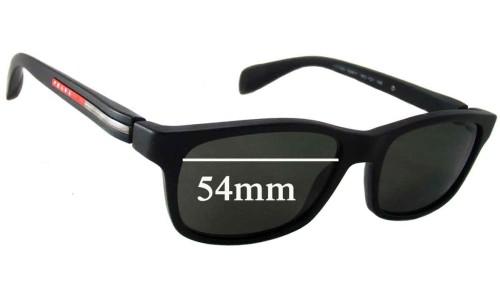 Sunglass Fix Sunglass Replacement Lenses for Prada VPS03D - 54mm wide lens
