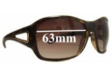 Sunglass Fix Sunglass Replacement Lenses for Prada SPR15L - 63mm Wide