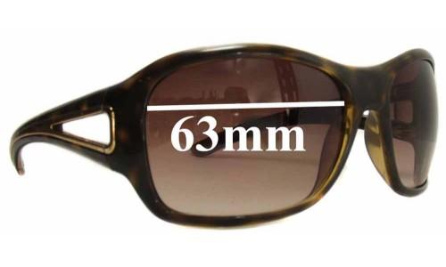 Sunglass Fix Sunglass Replacement Lenses for Prada SPR15L 63mm lens