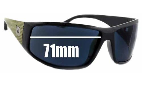 Sunglass Fix Sunglass Replacement Lenses for Quiksilver AKKA DAKKA - 71mm Wide