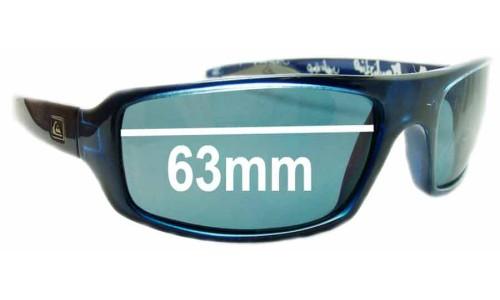 Sunglass Fix Sunglass Replacement Lenses for Quiksilver Sultan - 63mm Wide