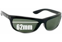 Sunglass Fix Sunglass Replacement Lenses for Ray Ban RB4089 Baloramas - 62mm Wide