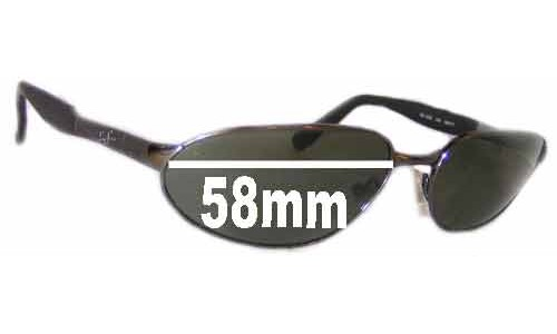 Sunglass Fix Sunglass Replacement Lenses for Ray Ban Predator RB3252 Sunglass Replacement Lenses- 58mm wide