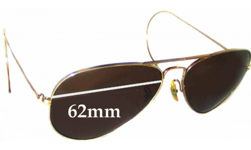 Sunglass Fix Sunglass Replacement Lenses for Ray Ban B&L Aviator - 62mm Wide