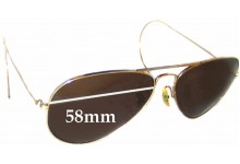 Sunglass Fix Sunglass Replacement Lenses for Ray Ban B&L Aviator USA - 58mm Wide