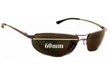 Sunglass Fix Sunglass Replacement Lenses for Ray Ban RB3169 Curve - 60mm Wide