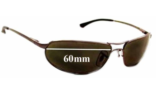 Sunglass Fix Sunglass Replacement Lenses for Ray Ban Curve RB3169 - 60mm Wide