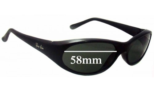 Sunglass Fix Sunglass Replacement Lenses for Ray Ban RB2015 Daddy-O - 58mm Wide