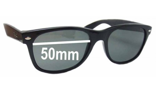 Sunglass Fix Sunglass Replacement Lenses for Ray Ban RB2132 New Wayfarer 50mm wide x 37 high