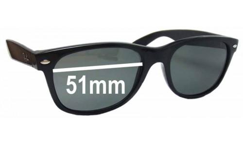 Sunglass Fix Sunglass Replacement Lenses for Ray Ban New Wayfarer RB2132 - 51mm Wide x 37mm Tall