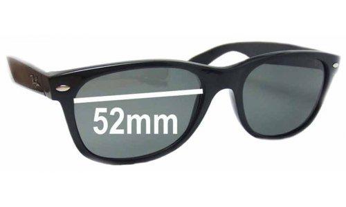 Sunglass Fix Sunglass Replacement Lenses for Ray Ban RB2132 New Wayfarer 52mm wide x 37 high
