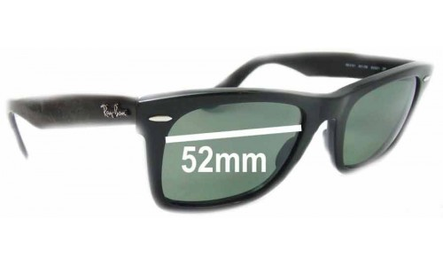 Sunglass Fix Sunglass Replacement Lenses for Ray Ban Wayfarer RB2151 Square - 52mm Wide