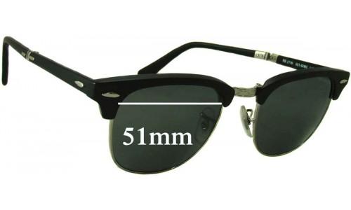 Sunglass Fix Sunglass Replacement Lenses for Ray Ban Folding Wayfarer RB2176 - 51mm wide