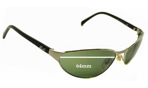 Sunglass Fix Sunglass Replacement Lenses for Ray Ban Rb3102 Predator - 64mm Wide