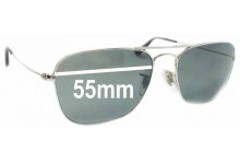 Sunglass Fix Sunglass Replacement Lenses for Ray Ban Aviator RB3136 Caravan Square - 55mm Wide