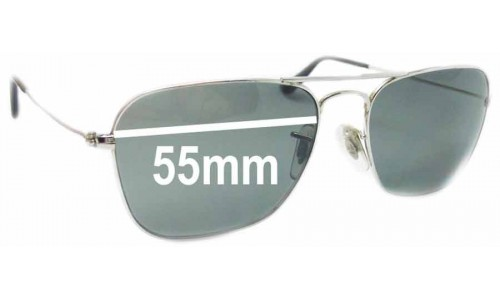 Sunglass Fix Sunglass Replacement Lenses for Ray Ban Caravan RB3136 Square Aviators - 55mm Wide
