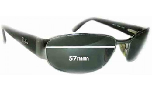 Sunglass Fix Sunglass Replacement Lenses for Ray Ban Undercurrent RB3141 Leather II - 57MM wide