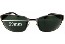 Sunglass Fix Sunglass Replacement Lenses for Ray Ban RB3215 Undercurrent - 59 mm Wide