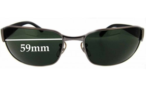 Sunglass Fix Sunglass Replacement Lenses for Ray Ban UNDERCURRENT RB3215 - 59 mm wide