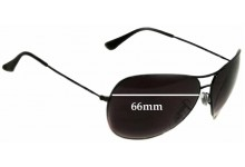 Sunglass Fix Sunglass Replacement Lenses for Ray Ban RB3340 - 66mm Wide