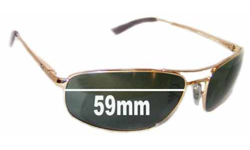 Sunglass Fix Sunglass Replacement Lenses for Ray Ban RB3360 - 59mm Wide