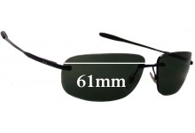 Sunglass Fix Sunglass Replacement Lenses for Ray Ban RB3391 - 61mm Wide