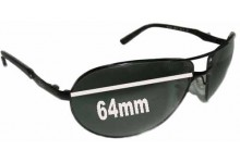 Sunglass Fix Sunglass Replacement Lenses for Ray Ban RB3393 Warrior - 64mm Wide