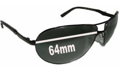 Sunglass Fix Sunglass Replacement Lenses for Ray Ban Warrior RB3393 Sunglass Replacement Lenses- 64mm wide