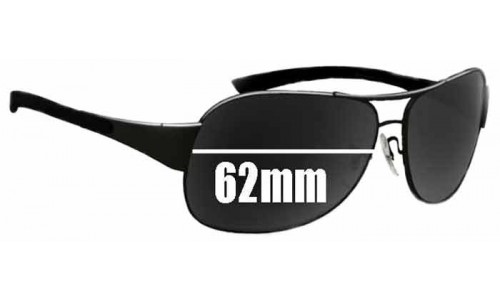 Sunglass Fix Sunglass Replacement Lenses for Ray Ban RB3404 - 62mm wide