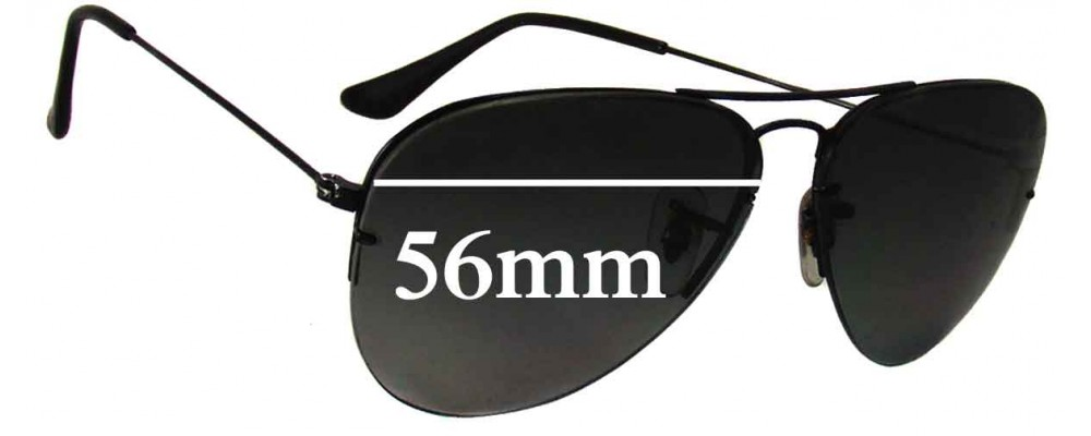 26c0dc781f Ray Ban RB3460 Sunglass Replacement Lenses - 56mm Wide