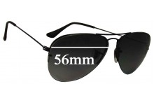 Sunglass Fix Sunglass Replacement Lenses for Ray Ban RB3460 - 56mm Wide