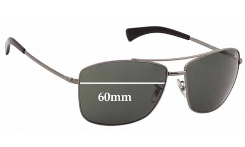 Sunglass Fix Sunglass Replacement Lenses for Ray Ban RB3476 - 60mm across