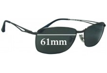 Sunglass Fix Sunglass Replacement Lenses for Ray Ban RB3501 - 61mm Wide