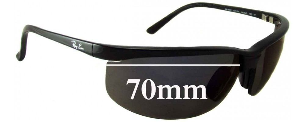 1a5799ee92 Ray Ban RB4021 Sunglass Replacement Lenses - 70mm across