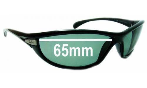 Sunglass Fix Sunglass Replacement Lenses for Ray Ban PS Hunter RB4038 - 65mm Wide